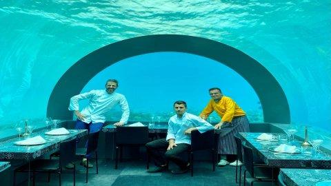 Andrea Berton cucinerà sott'acqua alle Maldive
