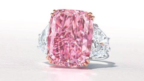 The Sakura Diamond: anello con diamante rosa da 15,81 carati in asta da Christie's