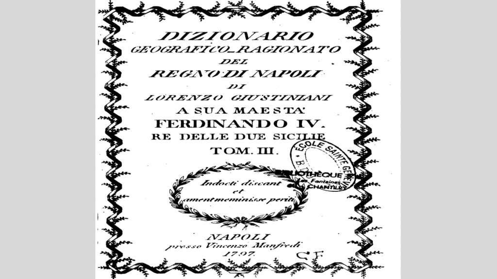Dizionario del Regno di Napoli