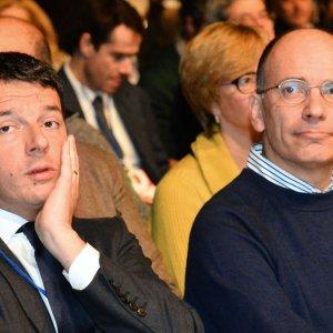 Letta e Renzi uniti su Draghi ma divisi sui Cinque Stelle