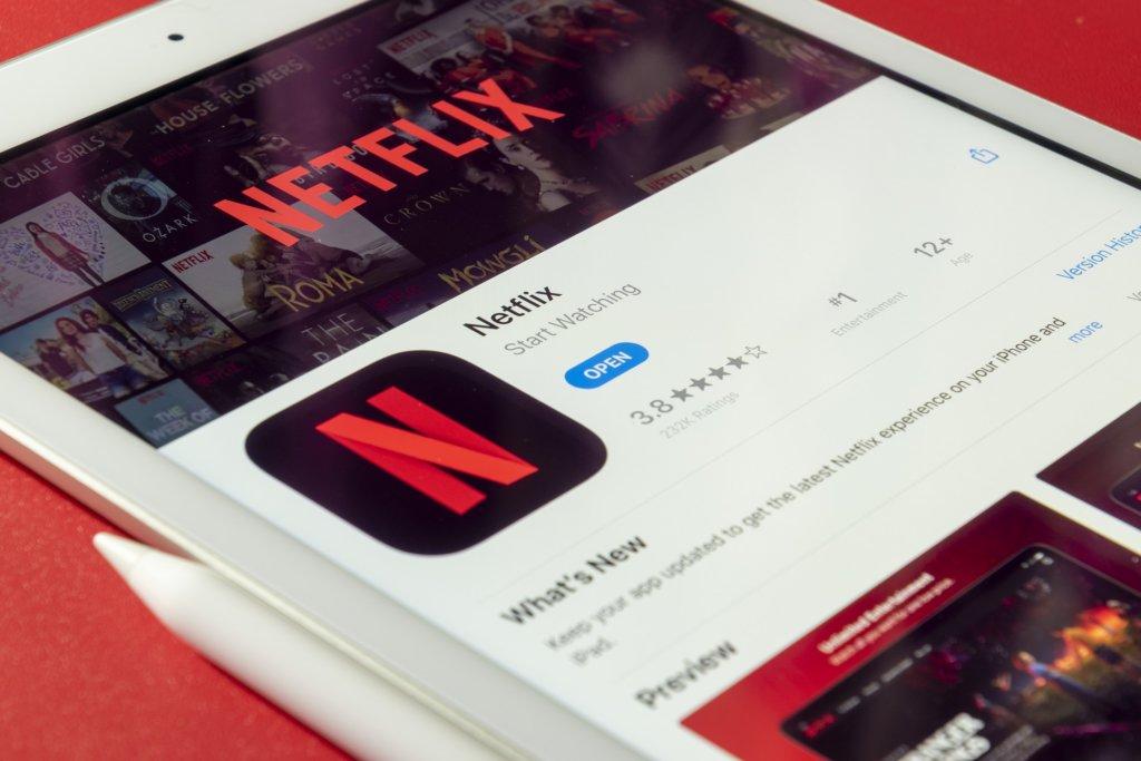 Tablet con App Netflix