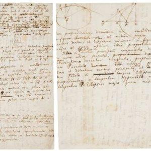 Isaac Newton, manoscritto inedito e autografo in asta da Christie's