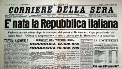 ACCADDE OGGI – 75 anni fa l'Italia diventava una Repubblica