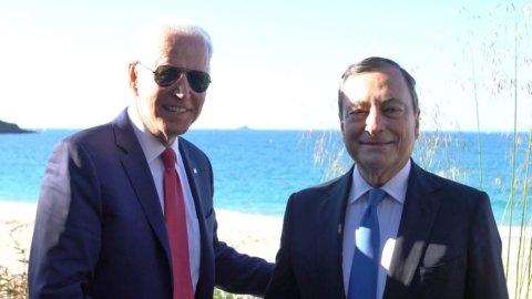 Biden e Draghi al G7