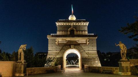 Acea illumina la Torretta Valadier di Ponte Milvio a Roma