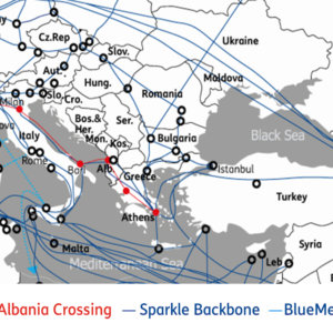 Sparkle lancia Albania Crossing: collegamento diretto Atene-Milano
