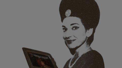 """Maria Callas, la """"Sacra Famiglia"""" del Cignaroli (solo per una sera) nel foyer dell'Arena di Verona"""