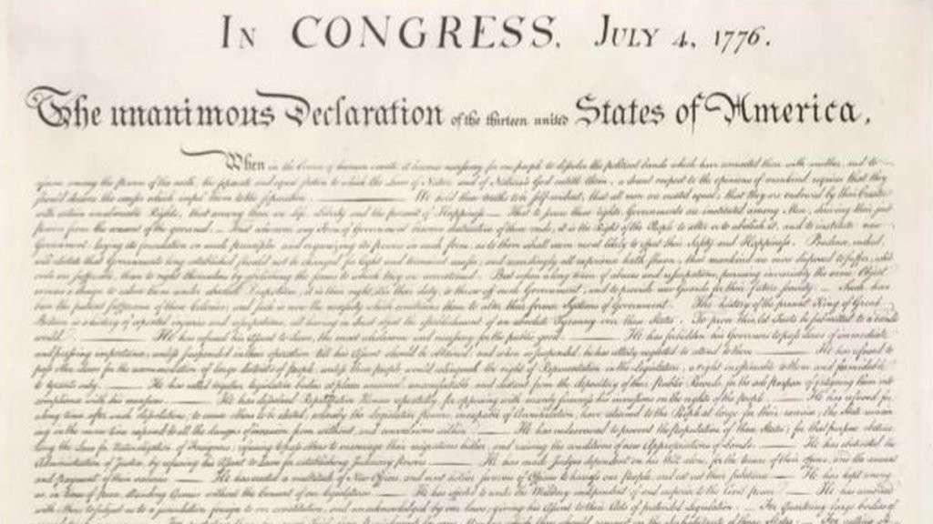 Dichiarazione indipendenza Usa