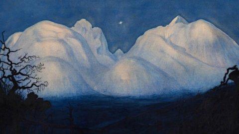 """Sotheby's, l'iconico acquarello """"Winter Night in the Mountains"""" di Harald Sohlberg in asta a Londra"""