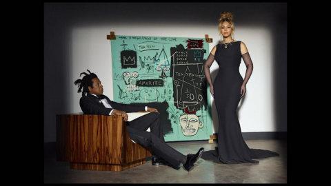 Tiffany & Co: la nuova campagna con Beyonce – JAR-Z e un dipinto di Jean-Michel Basquiat