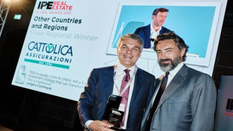 Esg, Cattolica premiata all'IPE Real Estate Global Conference & Awards 2021