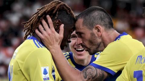 Per la Juve prima vittoria con brivido, il Milan torna in testa
