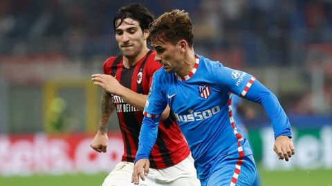 Champions amara: Milan beffato dall'Atletico, Inter ingabbiata