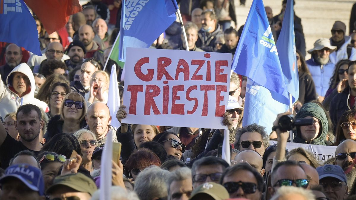 Trieste no green pass