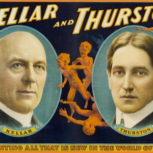 Manifesti con i maghi Malini, Kellar, Thurston, Houdini in asta online Sotheby's