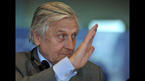 """Trichet: sull'inflazione la Bce non abbassa la guardia, per l'Europa la crescita sarà """"modesta"""""""