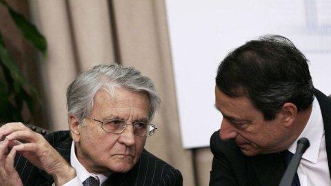 """Draghi: gli acquisti Bce? Non sono scontati. Anche Trichet """"riprende"""" Roma"""