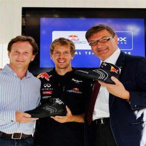 Geox ai piedi di… Vettel: Rinnovato fino al 2013 l'accordo fra la casa italiana e il team Red Bull