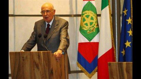 """Napolitano: """"Politica faccia la sua parte"""""""