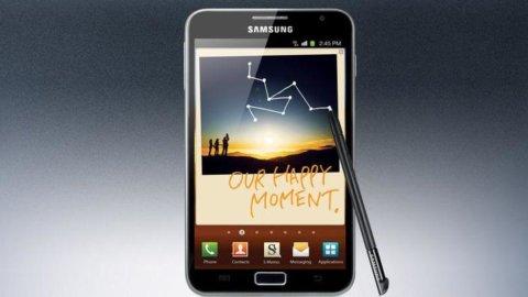 Samsung si inventa l'ibrido: metà smartphone, metà tablet. E' il Galaxy Note, in arrivo in Italia