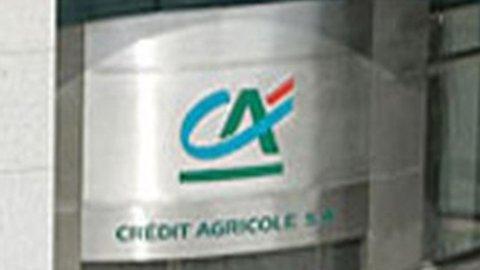 Crédit Agricole, utili -75%. Pesa la Grecia