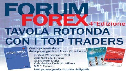 Il 29 novembre, a Milano, la quarta edizione del Forum Forex 2011