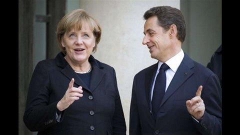 """Merkozy: """"Sanzioni automatiche se il deficit pubblico supera il 3% del Pil"""""""
