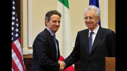 Geithner, dagli Usa sostegno a Monti