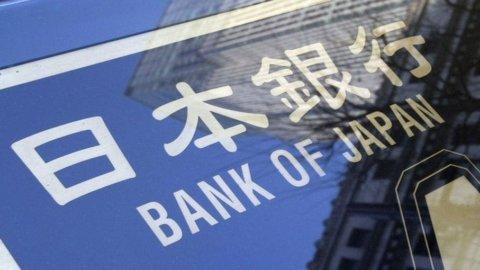 La Bank of Japan conduce un'operazione di rifinanziamento per 4,7 miliardi di dollari