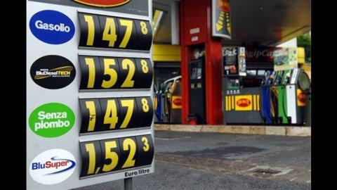 Prezzo Benzina, nuovo record: Eni a 1,722 euro/litro