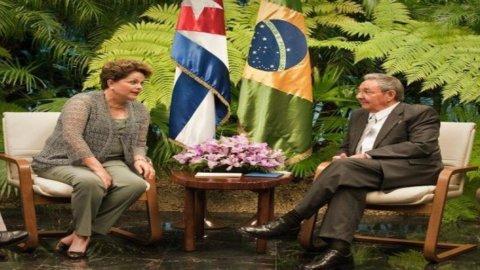 Dilma a Cuba: il Brasile punta a essere il nuovo leader nell'America latina