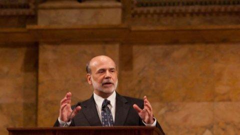 Cambio di direzione delle Borse sulle ali delle aperture di Merkel e Bernanke