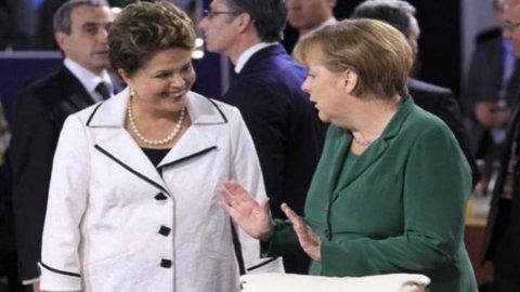 Botta e risposta Merkel-Rousseff sulla crisi