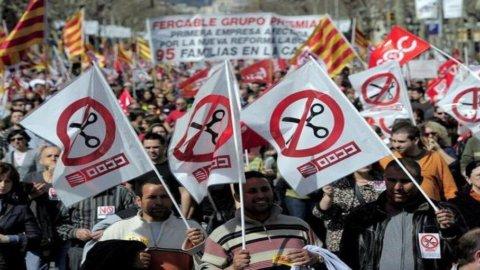 Spagna: cala l'inflazione ma è allarme tra sciopero e spread