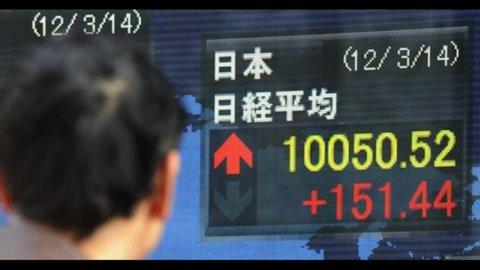 Borsa, Tokyo in rosso per timori Eurozona
