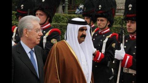 """Monti: """"Fiducioso su investimenti Qatar in italia"""""""