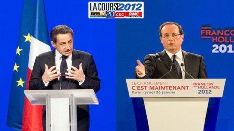 Presidenziali Francia: Sarkozy-Hollande, pareggio al 27%. La vigilia tra sondaggi ed euro-fobia