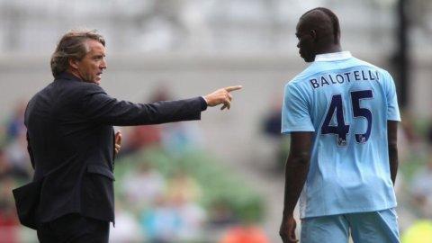Calcio estero: Mancini ritrova Balotelli e sfida lo United nel superderby che vale la Premier