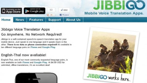 Jibbigo, l'app-traduttore simultaneo che funziona anche senza Internet