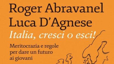 """Abravanel: """"Italia, cresci o esci!. Meritocrazia e regole per dare un futuro ai giovani"""""""