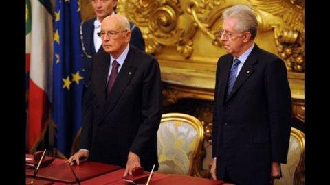Napolitano riceve Monti al Quirinale: sul tavolo il rischio default per la Sicilia