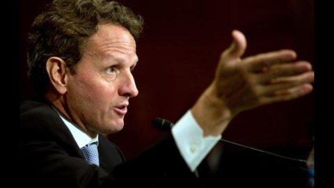 Crisi: il segretario al Tesoro degli Usa, Timothy Geithner, incontra oggi Draghi e Schaeuble