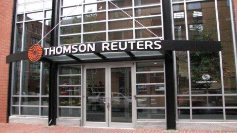 Thomson Reuters, trimestre sopra le attese: utile netto +64%