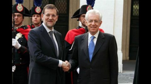 """Monti-Rajoy: """"Tutti i Paesi euro facciano i propri compiti senza contraddirsi"""""""