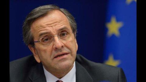 """Grecia, Samaras: """"Raggiunto accordo con Troika per nuova tranche di aiuti"""""""