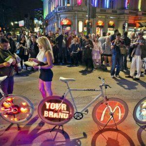 Londra, è la bicicletta la nuova frontiera della comunicazione