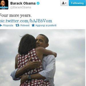 Obama rieletto: l'evento più twittato della storia