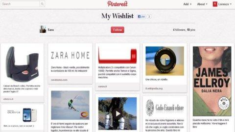 Social network, Pinterest ha trovato la sua vocazione: la lista dei desideri online