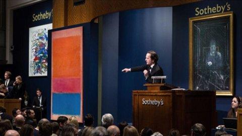 Sotheby's, asta da record con l'arte contemporanea: Pollock, Warhol, Rothko