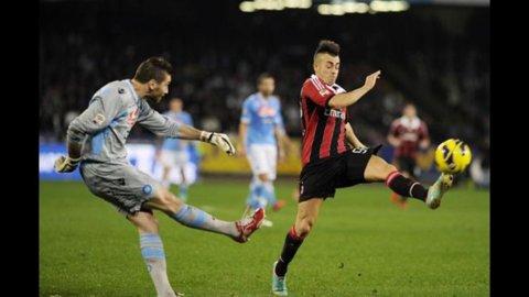 CAMPIONATO – Il Milan rimonta il Napoli con una doppietta di El Sharaawy: 2 a 2